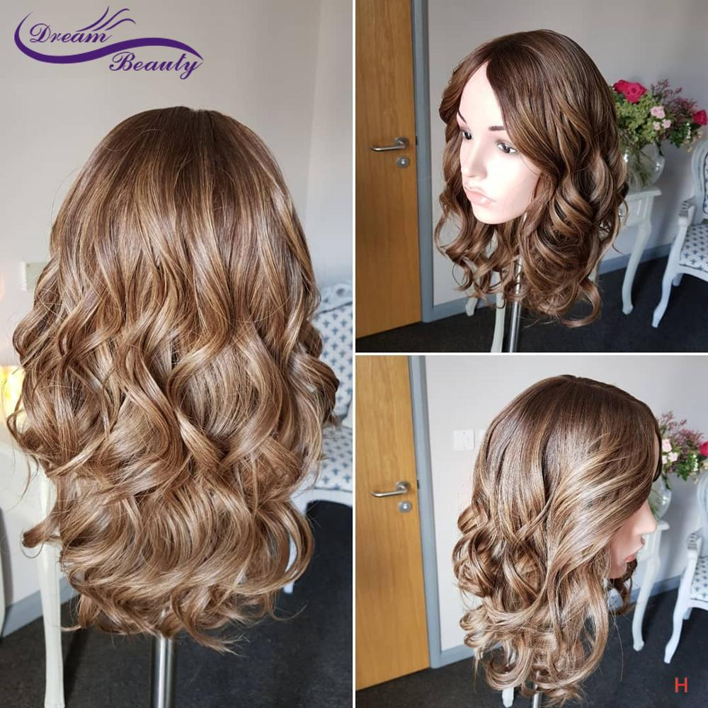 3 Tone Balayage Wave Lace Wigs With Baby Hair High Ratio 13*4/13*6 Remy Brazilian Pre-Plucked Lace Wigs For Women