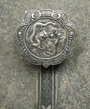 Chino miao plata fengshui suerte estatua ru decoração familiar peças de metal