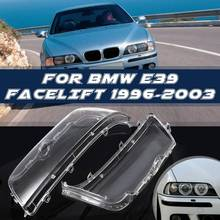 Pair Headlight Cover Shell Headlight Glass Lens For BMW E39 Facelift 1996 - 2000 2001 2002 2003 63128375301 63128375302
