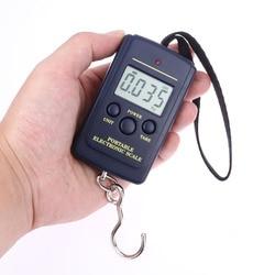 40 кг 10 г мини Цифровые Весы Висячие Карманные электронные весы с крючком Рыбалка багаж Кухня Вес Инструмент Путешествия вес ing Steelyard