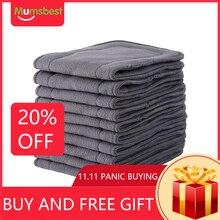 [Mumsbest]10 Uds. De insertos de carbón de bambú para pañal de tela para bebé, insertos lavables reutilizables, forros para pañal de tela de bolsillo Real