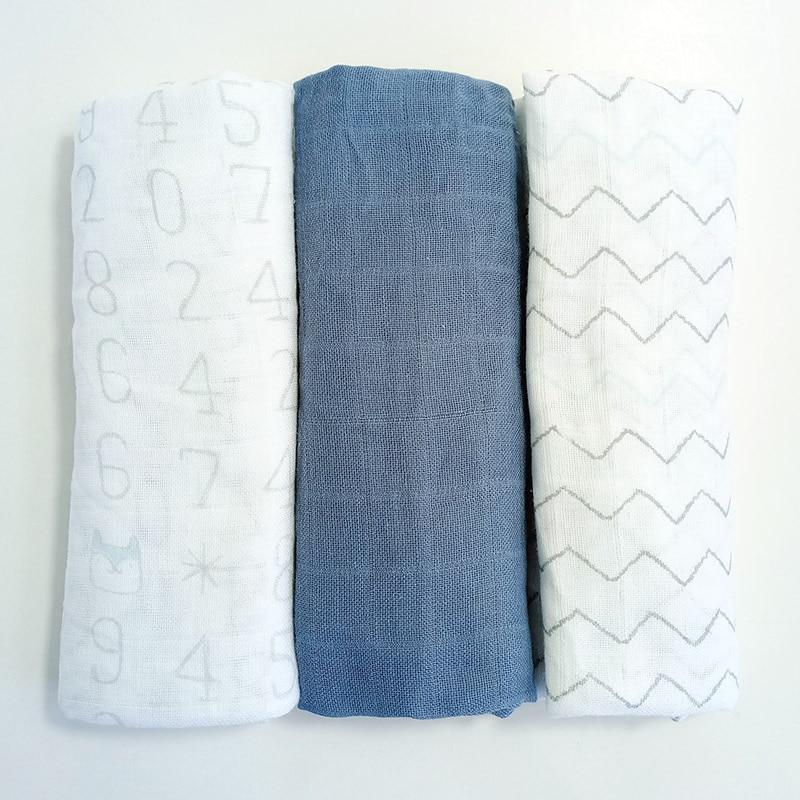 3pcs/lot Baby Blankets Organic Muslin Cotton Swaddling 70*70CM Active Printing Soft Wrap Feeding Burp Cloth Towel Scarf Stuff