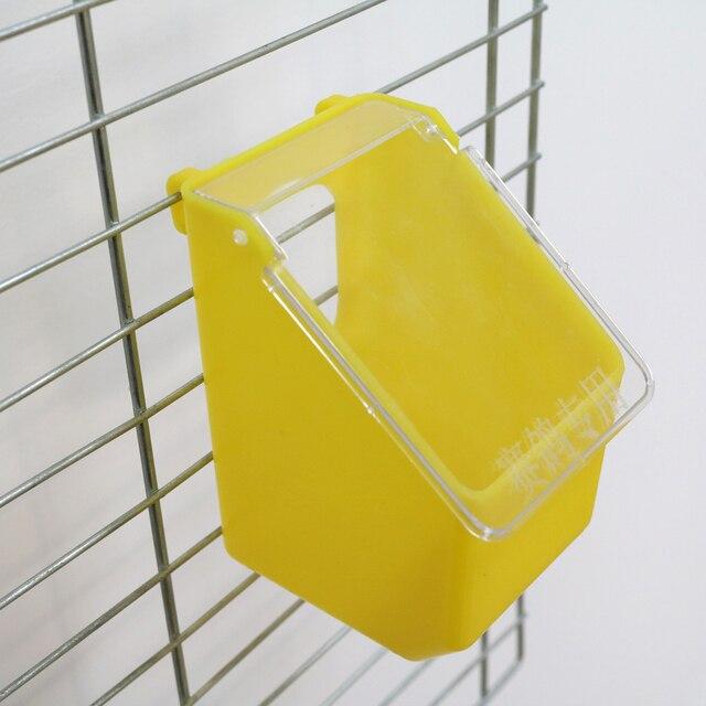 1 pièces oiseaux Cage suspendus boîte dalimentation avec couverture Pigeon perroquet caille nourriture distributeur deau Cage accessoires fournitures pour animaux de compagnie