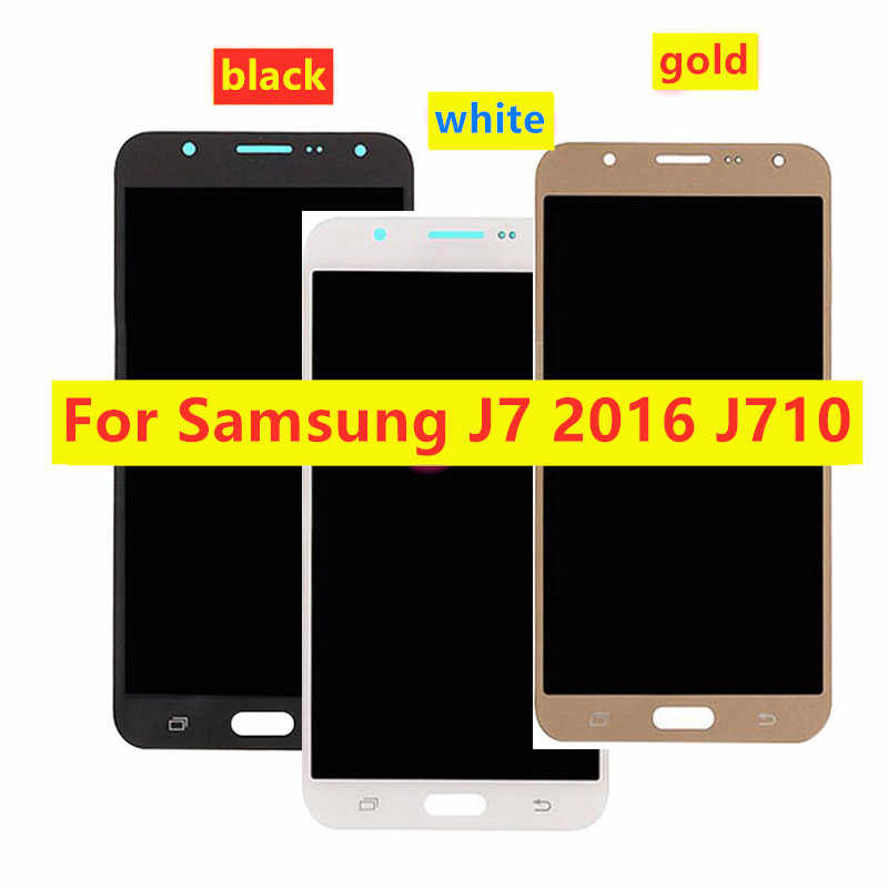 Voor Samsung J7 2016 J710 J710F J710M J710H J710FN Display Touch Screen Digitizer Vergadering Voor J710 Lcd-scherm