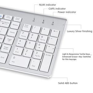 Image 4 - SeenDa 2,4G Беспроводная Бесшумная клавиатура и мышь Мини Мультимедиа полноразмерная клавиатура мышь комбо набор для ноутбука настольного ПК