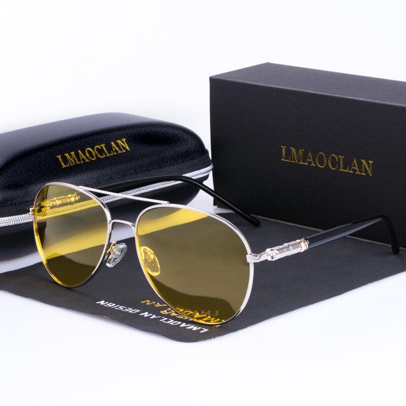 Мужские поляризационные очки для ночного вождения, брендовые дизайнерские очки с желтыми линзами, очки ночного видения для вождения, антиб...