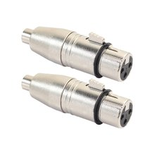 2 шт/лот xlr гнездовой к rca аудио адаптер разъем для микрофона