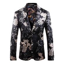 Blazer Men 2020New Fashion Trend High-quality Plus-size Printing Slim Boutique