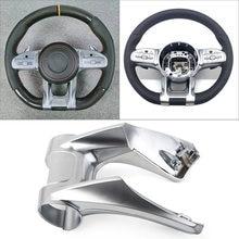Por Mercedes-AMG A B C E clase G GLS W205 W177 2019-2020 rendimiento Dirección de rueda inferior recorte cubierta de plástico ABS w/LOGO
