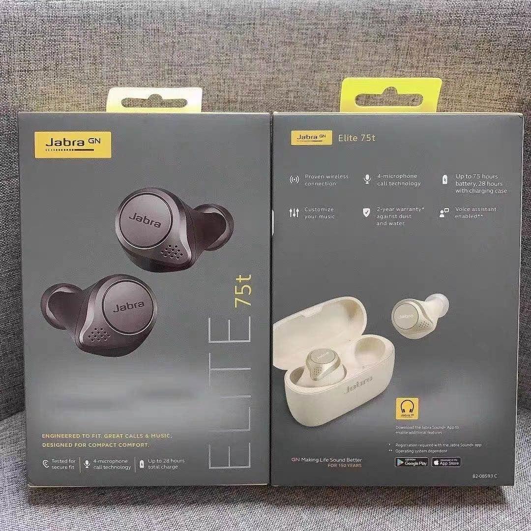 Écouteurs sans fil Bluetooth pour Jabra Elite 75t, casque découte dorigine 11 TWS, oreillettes de Sport avec suppression du bruit