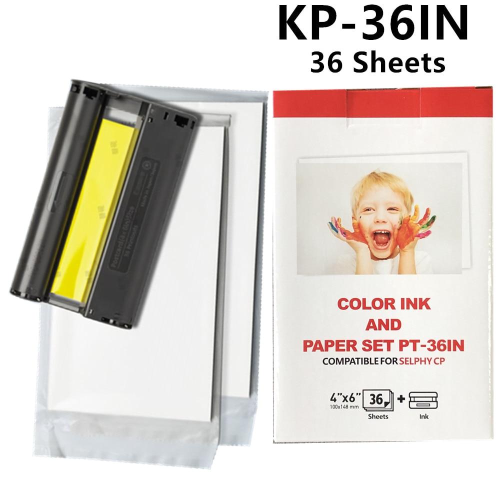 6 дюймов CP1300 для Canon Selphy чернила Бумага комплект CP1200 CP1000 CP910 CP900 CP800 CP810 CP820 3 Чернила + 108 лист Бумага KP-108IN KP-36IN
