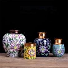 Candy Jar Tea-Packaging-Box Home-Decoration-Accessories Ceramic Tea-Jar Chinese-Tea-Box