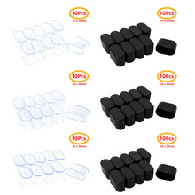 10Pcs Table Chair Leg End Caps Oval Shape Rubber Furniture Feet Covers Tips Covers Floor Protectors for Home Office Garden Patio