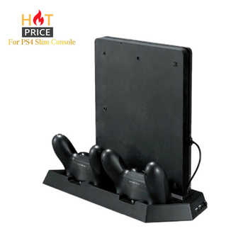 Game Console Stand For PS4 Slim Console Vertical Game Console Stand Dock With Dual Charging Station For Playstation 4 - DISCOUNT ITEM  22% OFF All Category