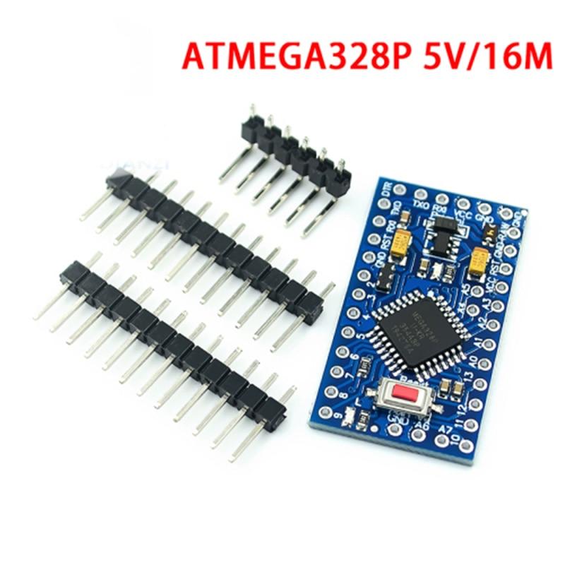 ATMEGA328 мини-видеокамера-регистратор с креплением к макетная плата 3,3 V 8 м/5V 16M модуль контроллера с 2 Row штыревые, MEGA328P модули для Arduino
