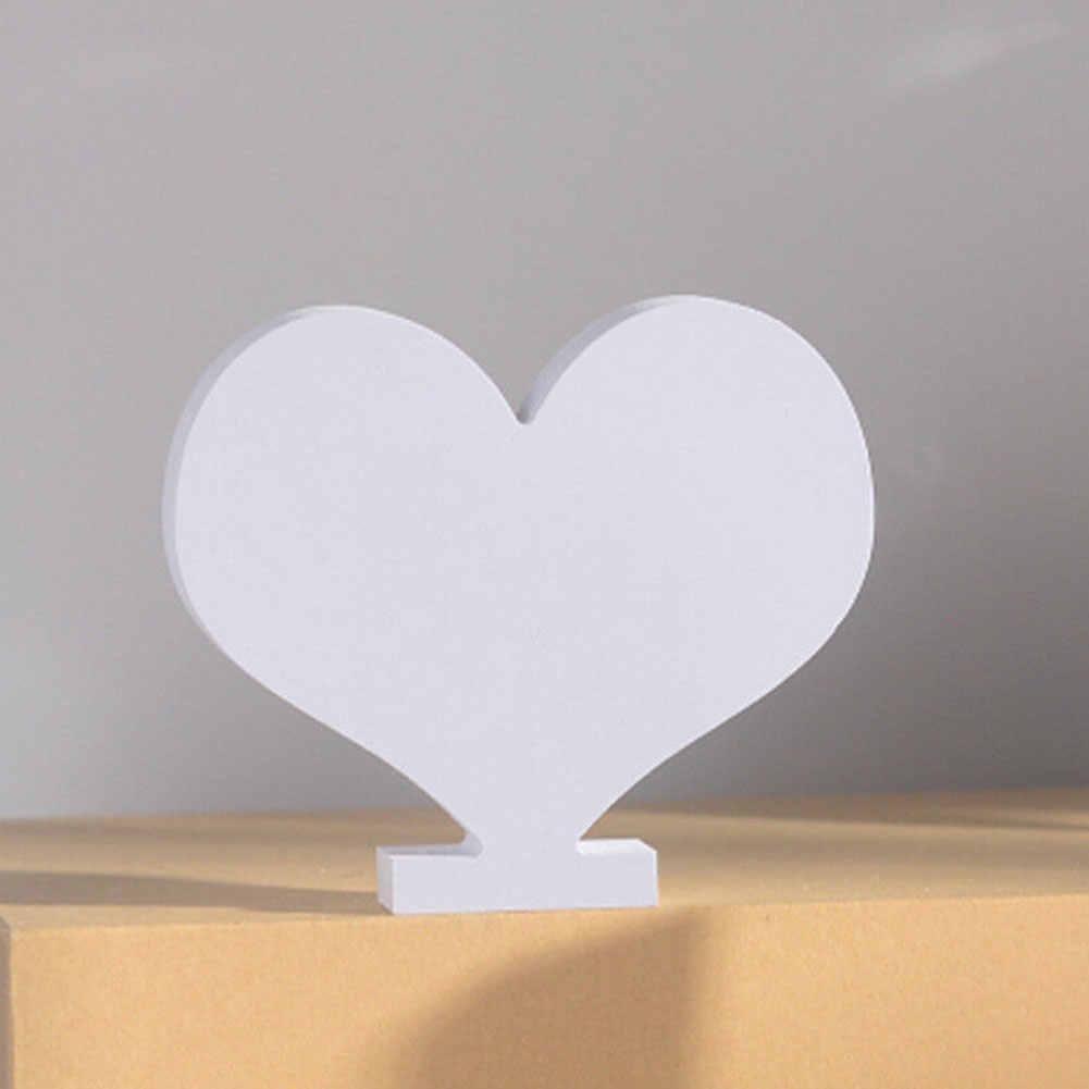 Hot 1Pc drewniane angielskie litery Ornament białe dekoracje weselne kształt alfabetu DIY Baby Shower Mariage