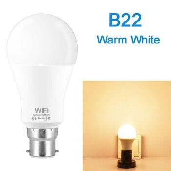Dimmable 15W B22 E27 WiFi Smart Light Bulb LED Lamp App Operate Alexa Google Assistant Control Wake up Smart Lamp Night Light 7