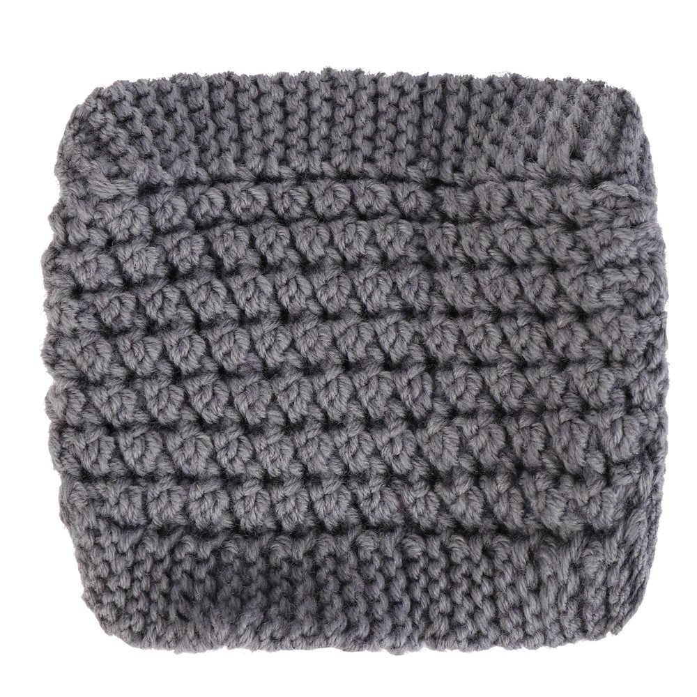 Pelo de seersucker de cáñamo europeo y americano tejido con diadema de lana y Diadema de protección de oreja