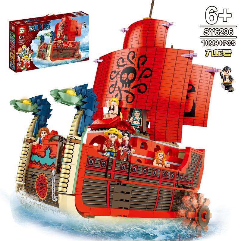 432pcs Pirate Ship Building Blocks Bricks Toy Set Model Technic Idea Figures New