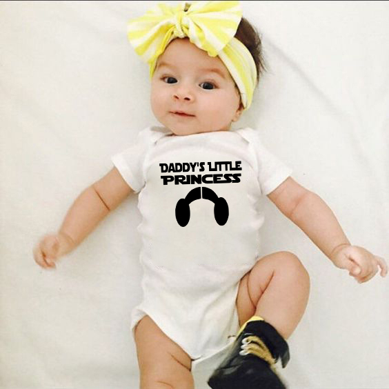 funny baby vest Daddy/'s little princess body suit