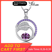 JewelryPalace Leaf 1.4ct Created Alexandrite Sapphire Pendants 925 Sterling Silver Pendants Necklaces Without Chain Jewelry jewelrypalace elegant 2 43ct created alexandrite sapphire cubic zirconia halo adjustable bracelets for women 925 sterling silver