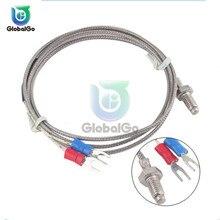 цена на 1M/2M K Type Thermocouple Control Thread M6 Screw Probe Temperature Sensor Probe Temperature Controller For Digital Thermometer