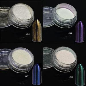 Image 4 - 1 pièces argent miroir magique Pigment poudre manucure poussière brillant Gel vernis à ongles Art paillettes Chrome poudre flocon décorations BE04S 1