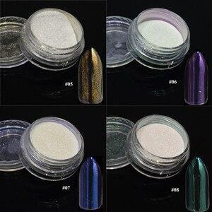 Image 4 - 1PcsกระจกเงินMagicผงสีเล็บฝุ่นShiny Gelเล็บGlitter Chrome Powder Flakeตกแต่งBE04S 1