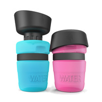 19 New Products Hot Selling Creative Pet Water Bottle Sports Extrusion Type Pet Accompanied Cup Portable Outdoor Dogs And Cats P