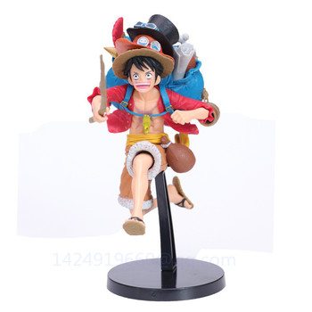 ONE PIECE Monkey D. Luffy Run Portgas·D· Ace Sabo Backpack Hat The Straw Hat Pirates Sanji PVC Action Collectible Model Toy G856