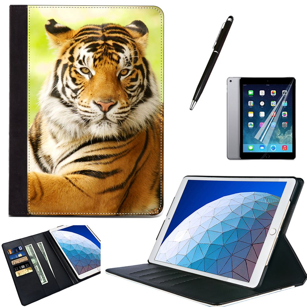"""Animal Cool Tiger Protective PU Leather Stand Case Cover For Apple iPad Air 2 3 9.7"""" 5th 6th Generation 10.5"""" 2017 2019 MINI 4 5"""
