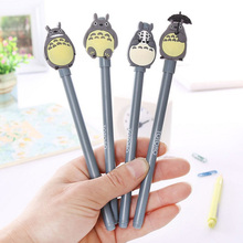 1PCS Novelty Cute My Neighbor Totoro Gel Pen Cartoon 0.5mm Black Ink Pen Gift School Office Writing Supplies Stationery 4pcs novelty cute my neighbor totoro gel ink pen signature pen school office supply as toy finger action for kids