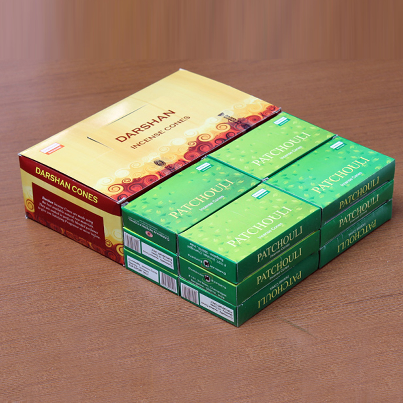 Handmade Indian Frankincense Patchouli Tower Incense Cones 3