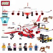 GUDI Legoingly  Large Passenger Plane Airplane Block Assembly Building Blocks Educational Bricks Toys For Children Gift neoclima тпк 9 blue