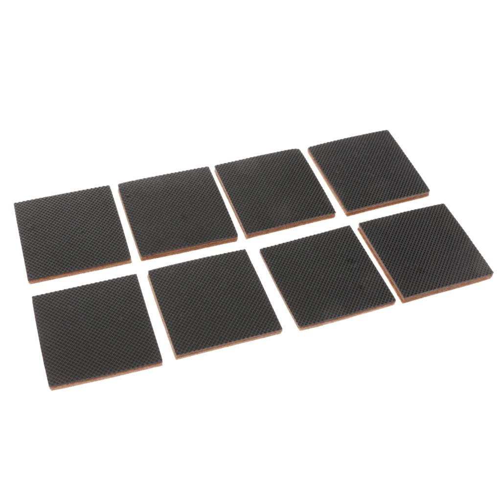 MagiDeal 8xSquare Durable Wood Floor EVA Felt Furniture Movers/Sliders/Pads Wood Floor Protectors Furniture Sliders
