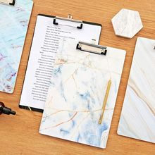A4 Marble Clipboard Writing Pad File Folders Board Clip Document Holder School Office Stationery Supplies cute a4 bear cactus owl clipboard stationery store clip paper folder board desk file drawing writing pad school office accessory