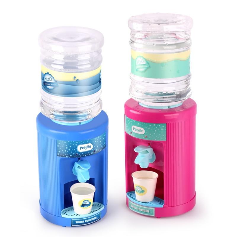 Electric Mini Water Fountain Lighting Sounding Drinking Fountain Toys Children Electric Kichen Educational Pretend Toys
