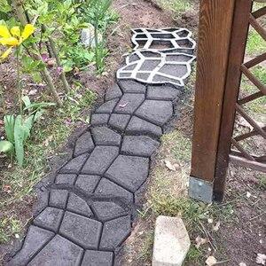 DIY тротуарная форма для сада, прогулки, тротуара, бетонная форма, вручную цемент, кирпич, камень, дорожные формы, дорожка, мат, садовые инструм...