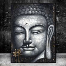 Vintage Buddha Oil Paintings Print On Canvas Wall Art Posters and Prints Chinese Buddhism Workart Pictures Home Decor