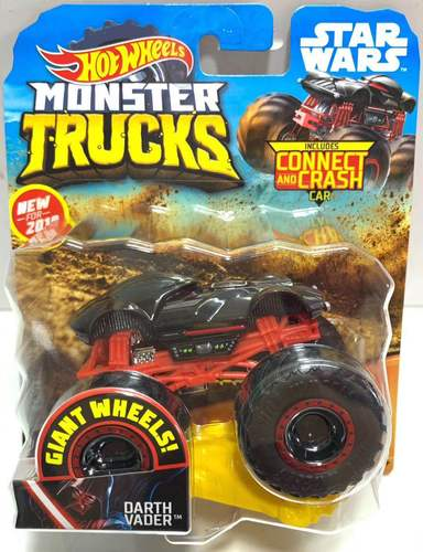 1: 64 оригинальные горячие колеса гигантские колеса Crazy Barbarism Монстр металлическая модель грузовика игрушки Hotwheels большая ножная машина детский подарок на день рождения - Цвет: GGT46 DARTH VADER
