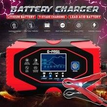12v-24v 8a carregador de bateria de carro automático completo power pulse repair carregadores seco molhado chumbo ácido bateria-carregadores de 7 estágios de carregamento