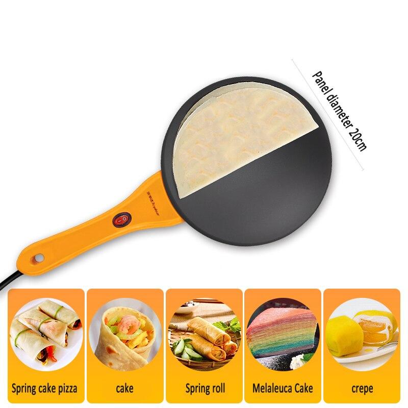 Máquina de Pizza eléctrica para hornear Pan panqueque maceta sándwich fabricante hogar Bo pastel primavera rollo pequeño panqueque - 3