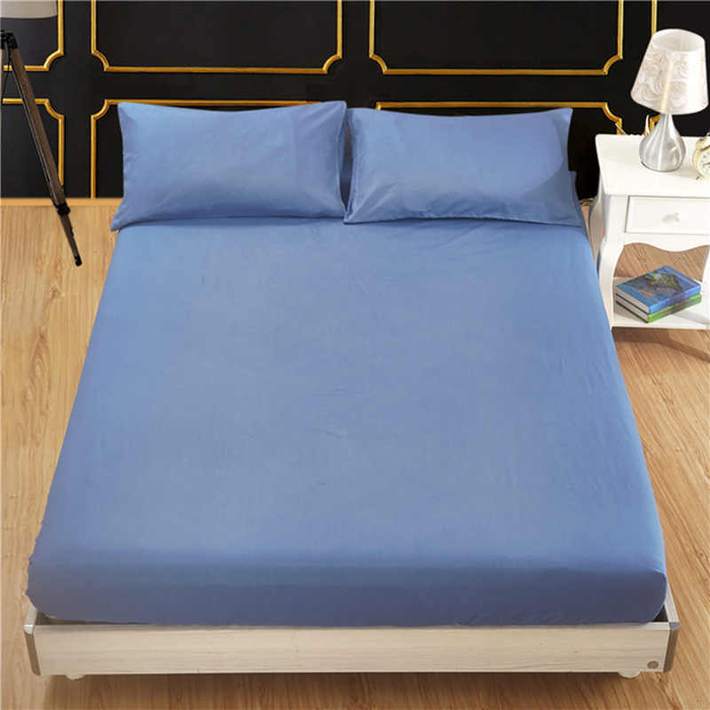 11 Colored Mattress Protector Cover Solid Color Hypoallergenic Anti-mite Bed Sheet Mattress Pad Queen Size With Elastic Cover