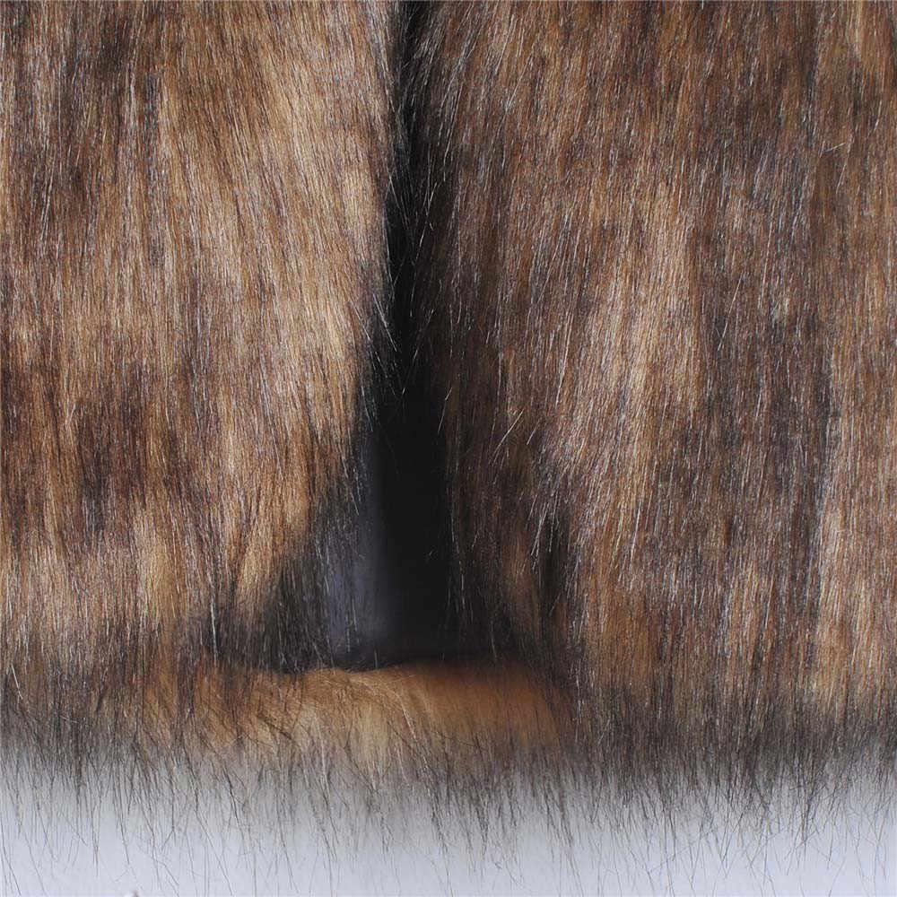 女性のベストノースリーブコート上着ロングヘアフェイク毛皮のチョッキの女性服女性のベスト feminino プラスサイズ 2019