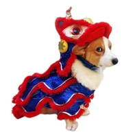 New Funny Dog Clothes New Year's Pet Costume Chinese Dragon Dance Lion Dog Party Dress Up Festive Lucky Cat Dog Clothes