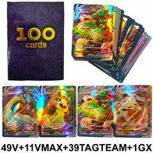 100PCS/Box Pokemon Cards GX EX MEGA VMAX Card Pokemones Games Booster Collectibles English Trading Collection Battle Card Toys