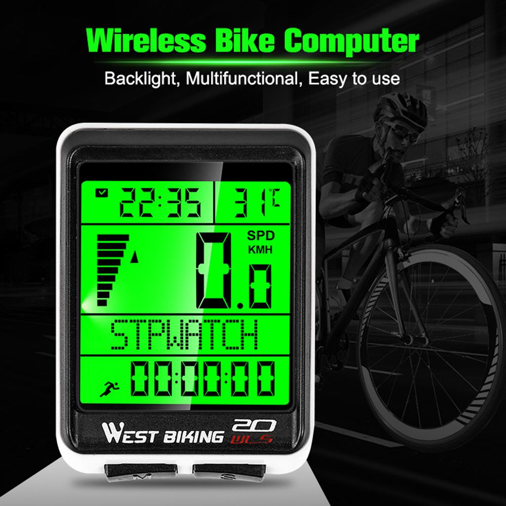 Speedometer and etc. SY Bicycle Wireless Computer Waterproof 22 Functions:Cycle Odometer