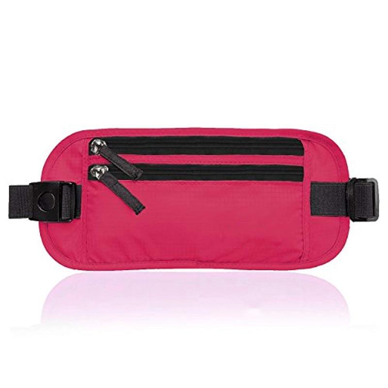 Men And Women Outdoor Travel Documents RFID Body Hugging Wallet Sports Waist Pack Running Mobile Phone Waist Bag Hidden Anti the - 2