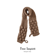 Free Inspirit Fashion Style Lady's Solid Scarf Overlength Woollen Yarn Acrylic Woman's Scarves