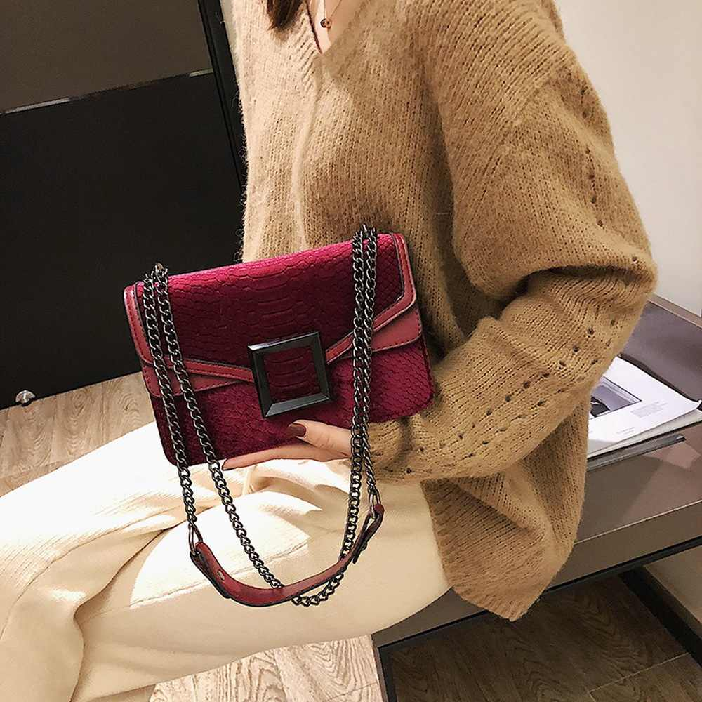DIHOPE kadın çantası yılan baskı omuzdan askili çanta Vintage Crossbody kadın askılı omuz çantası lüks deri askılı çanta ana kesesi